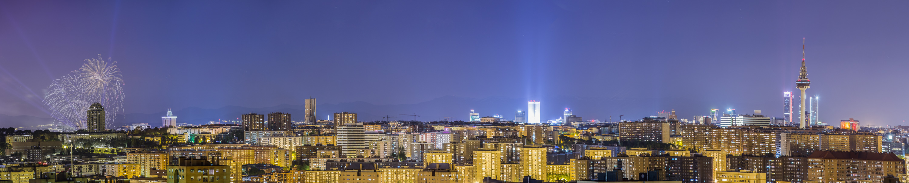 Skyline Madrid Nocturno