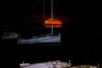 Barcas bajo la Luna